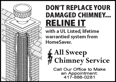 Reline your Chimney - Don't Replace It - Call All Sweep Chimney Service - Springfield Missouri - 417-888-0281